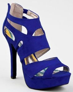 Qupid High Heel Platform Cut Out Stiletto Shoes in Cobalt Blue Suede, Fuchsia Suede, Sea Green Suede, Yellow Suede and Black Suede. Green High Heels, High Heels Stilettos, Stiletto Shoes, Peep Toe Shoes, Kinds Of Shoes, Green Suede, Cute Shoes, Fashion Shoes, Footwear