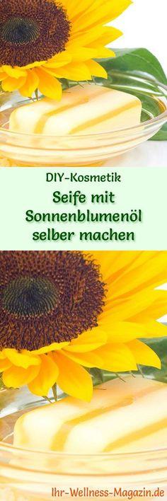 Seife herstellen - Seifen-Rezept: Seife mit Sonnenblumenöl selber machen - eine Seife, die nach Wunsch mit Duftölen, Kräutern oder Blüten verfeinert werden kann ...