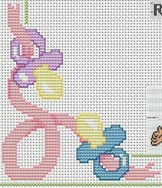 Baby Cross Stitch Patterns, Cross Stitch For Kids, Cross Stitch Baby, Cross Stitch Charts, Cross Stitching, Cross Stitch Embroidery, Hand Embroidery, Knitting Patterns, Crochet Patterns