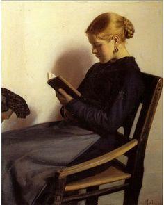 Michael Ancher, (1849-1927). Membre de la communauté d'artistes danois et nordiques qui vécurent et travaillèrent à Skagen au Danemark à la fin du XIXèmè siècle.