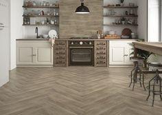 Drewno kolekcja Catalea - Średnia kuchnia jednorzędowa w aneksie, styl rustykalny - zdjęcie od Cerrad