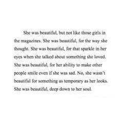 She was beautiful..