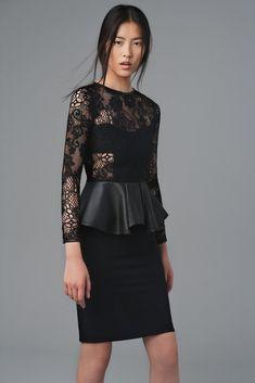 Tendencias OI 2012  Vestido de Zara  Tendencias: negro, encaje, cuero, gótico, lady