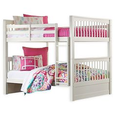 Handcrafted with solid wood and gorgeous wood veneers, the Pulse Bunk Bed with Storage by Hillsdale Furniture provides extra sleeping space and roomy storage space. This stylish, space-saving bunk bed brings handsome Mission style to any bedroom. Bunk Bed Sets, Girls Bunk Beds, Bunk Beds With Storage, Bunk Bed With Trundle, Full Bunk Beds, Bed Storage, Hillsdale Furniture, Bedroom Furniture, Coastal Furniture