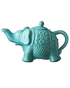 Calypso St. Barth for Target's new collection, this kitschy teapot will add an eclectic touch to a typically traditional party - funky!