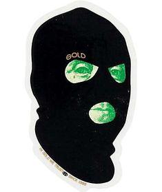 Easily add subtle street style to any smooth surface with a small Gold George Washington dollar bill face inside a black ski mask graphic. Ski Mask Tattoo, Arte Do Hip Hop, Sketch Manga, Weed Art, Trippy Wallpaper, Flash Art, Dope Art, Graffiti Art, Graffiti Tattoo