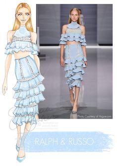 Ralph & Russo Fashion Illustration by Joanna Baker