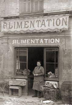 Commerce Epicerie Alimentation Primeurs - Toulouse Photo ancienne 1920 retirage