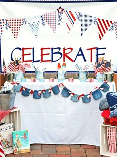 Awesome 4th of July Party by Pen N' Paper Flowers