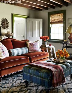 Tilton Fenwick. So granny chic in its pattern play. Antique home. I love the way the colors don't *quite match*.