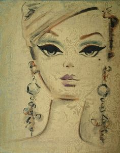 Artist Debbie Curtis does wonderful Barbie portraits, I will one day have enough frivolous cash to purchase one!