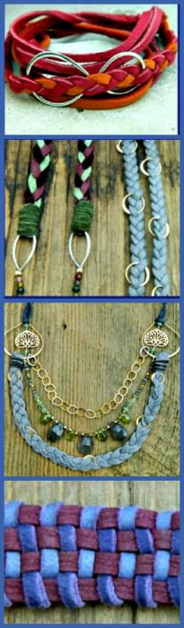 Learn to make hip Braided Leather Jewelry, You can do it! Click here to start www.ninadesigns.c...