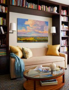 cozy reading area. Art Design Consultants (ADC) Original Fine Art Beautiful Environment