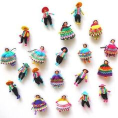 DIY Worry Doll Gifts-- cute craft idea for Spanish classroom. PlayDrMom shares how to make your own worry dolls . as well as how they can be used in play therapy or at home to help ease children's anxiety. Doll Crafts, Cute Crafts, Diy And Crafts, Crafts For Kids, Arts And Crafts, Worry Dolls, Ethno Style, Thinking Day, Tiny Dolls