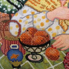 Linda Carter Holman needlepoint design stitched by Lorraine.