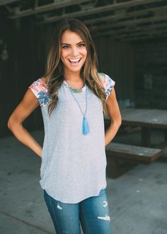 Stitch Fix stylist - Love this top! The floral detail is perfect.