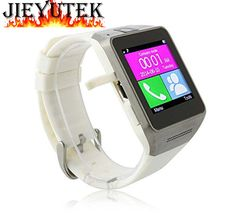 """Qkking GV08 1.54"""" Touch Screen Multi Language Bluetooth Smart WatchPhone Wristwatch with Handsfree Sync Call,Bluetooth Smart Watch Phone Support SIM Card Smartwatch with Camera WristWatch for iPhone Samsung HTC LG Android Smartphones(GV08-White). Function: Messaging, Bluetooth, BT Dialer, camera, Anti-lost, pedometer, Sleep Monitor, Alarm, Calculator, Calendar, FM radio, QQ, vedio recorder, vedio player, image viewer, sound recorder, audio player, etc. For Andorid phone, every function..."""