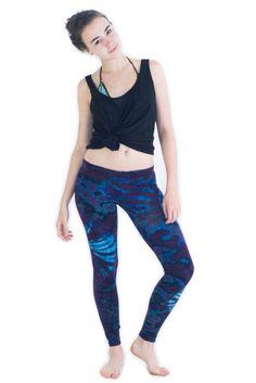 Blue Purple Tie Dye Leggings - Koia Collective