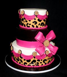 Another pinner said This one is very cool, but I wouldn't use white...too bright and really doesn't go with the other colors, However just finishing a cake that was one layer cheetah print and one layer zebra makes me wish I did this one but little more realistic looking cheetah print and then put zebra print where the white is!