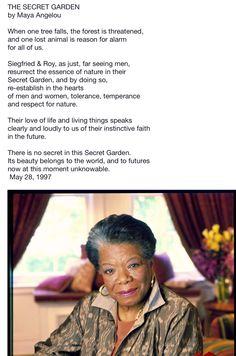 Maya Angelou: The Secret Garden