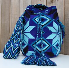 Azul Wayuu Mochila Bag by MAKAWIACCESSORIES on Etsy, $138.00