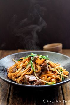 beef chow fun-pan fried rice noodles
