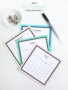 Printable 2015 Calendar ~ by Alix Sorrell Did 2015 sneak up on you like it did for me? Well, If you didn't get a chance to...