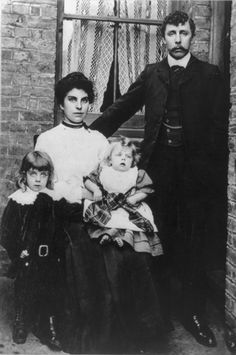 Family that survived sinking of the Titanic pose for a portrait