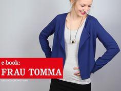 Nähanleitungen Mode - FrauTOMMA lässige Jacke im Stilmix, ebook - ein Designerstück von schnittreif bei DaWanda