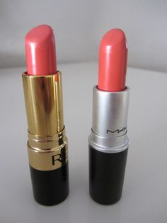 Revlon Coral Berry vs. MAC Vegas Volt