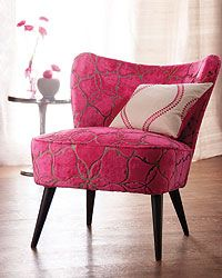 Love this pink fabric. Anyone know where it's from? Would love to upholster a settee in it.