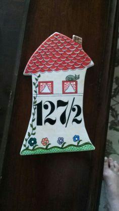 MK ÇİNİ dekoratif kapı numarası