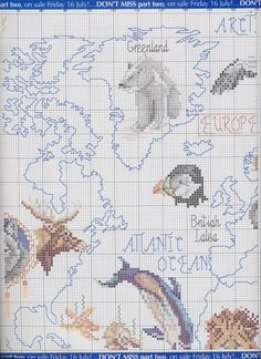 Gallery.ru / Cross Stitch Collection_2004_Animals_World_map - Карта с животными - Vlada65