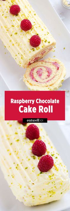 This raspberry Raspberry Chocolate Cake Roll is a delicious Holiday party treat that is easy to make and satisfies your cravings for cake.