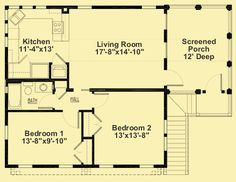 Upper Level Floor Plans For Garage With 2-Bedroom Apartment Above Garage Apartment, Garage Apartment Floor Plans, Garage Floor Plans, Garage Apartments, Two Bedroom Apartments, 2 Bedroom Apartment, Luxury Apartments, House Floor Plans, Two Bedroom Tiny House