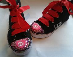 Custom bling One Direction shoes, personalised with name too.