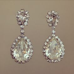 Vintage Rhinestone Bridal Earrings