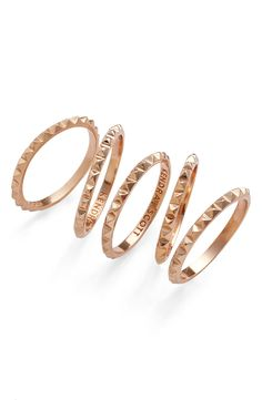 This set of rose gold midi rings is too perfect! Can't wait to add these to the collection.