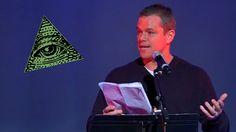 Matt Damon Goes Public Exposing The Illuminati & New World Order