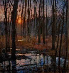 "Saatchi Online Artist: todd doney; Oil 2011 Painting ""Trees, Jan. 1, 4:43 PM"""