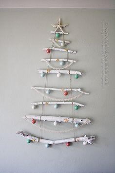 Manualidades de navidad con ramas | MIL ARTES MUJER: ÁRBOL DE NAVIDAD CON RAMAS SECAS