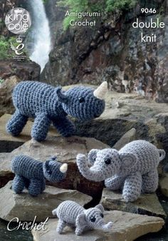 King Cole DK Crochet Toy pattern Monkey Chimps 3 sizes safari animals  9047