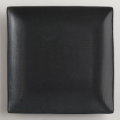 A dramatic matte black finish and clean geometry distinguishes our Square Black Trilogy Salad Plates. & World Market Square Black Trilogy Dinner Plates Set of 4   Dinner ...