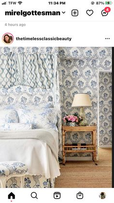 Bed And Breakfast, Bedrooms, Blue And White, Decorating, Fabric, Home, Decor, Tejido, Decoration