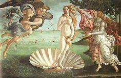 サンドロ・ボッティチェリ『ヴィーナスの誕生』(1483)  Sandro Botticelli: La Nascita di Venere