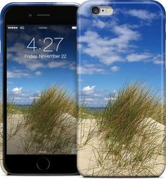 Dunes on Sea / Dünen am Meer by Pictures for the wall - iPhone Cases & Skins - $35.00