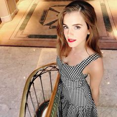 Emma Watson with a little cleavage