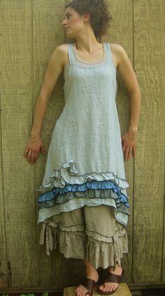 Ruffle And Swirly Dress. $149.00, via Etsy.