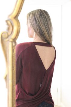 Le Lis Raymon Cross Back Knit Top | Stitch Fix ... I love the unique back and the color!