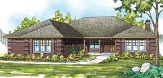 Elevation of European   Traditional   House Plan 59435